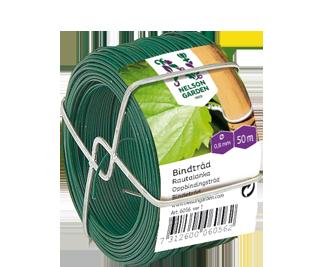 Bindtråd Plastöverdragen ståltråd. Grön.